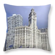 Wrigley Building Chicago Throw Pillow by Christine Till