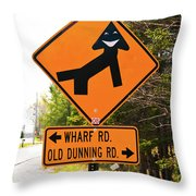 WTF Throw Pillow by Guy Whiteley