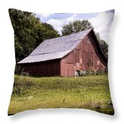 Wv Barn Throw Pillow by Gena Weiser
