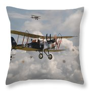 Ww1 Re8 Aircraft Throw Pillow by Pat Speirs
