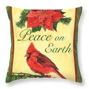 Xmas around the World 1 Throw Pillow by Debbie DeWitt