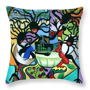 Ya Mon Throw Pillow by Anthony Falbo