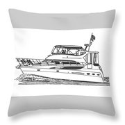 Yachting Good Times Throw Pillow by Jack Pumphrey
