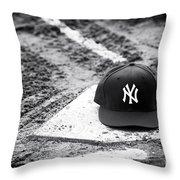 Yankee Home Throw Pillow by John Rizzuto