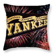 Yankees Pennant 1950 Throw Pillow by Bill Cannon