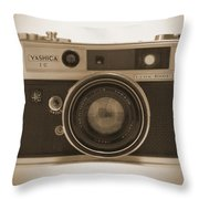 Yashica Lynx 5000E 35mm Camera Throw Pillow by Mike McGlothlen