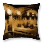 Ye Old Wine Cellar In Tuscany Throw Pillow by John Malone