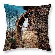 Ye Olde Mill Throw Pillow by Tom Mc Nemar