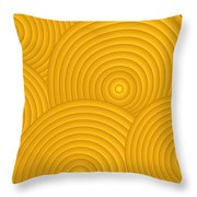 Yellow Abstract Throw Pillow by Frank Tschakert