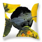 Yellow And Gray Interactions 4 Throw Pillow by Amy Vangsgard