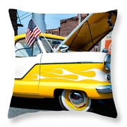 Yellow Flame Throw Pillow by Cindy Archbell