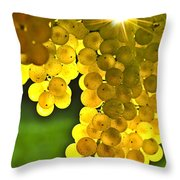 Yellow Grapes Throw Pillow by Elena Elisseeva