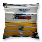 Yellow Harley Saddlebags Throw Pillow by Lainie Wrightson