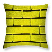 Yellow Wall Throw Pillow by Semmick Photo