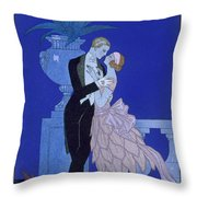 Yes Throw Pillow by Georges Barbier