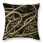 Yin-yang Throw Pillow by Luke Moore