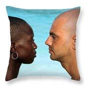 Yin Yang Throw Pillow by Skip Hunt