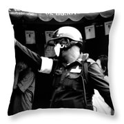 Ymca Cop Throw Pillow by A Rey