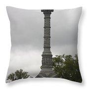 Yorktown Monument Throw Pillow by Teresa Mucha