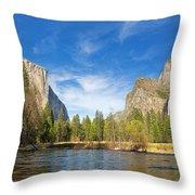 Yosemite Throw Pillow by Jane Rix