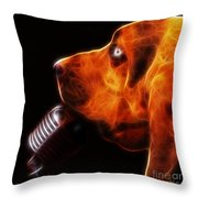 You Ain't Nothing But A Hound Dog - Dark - Electric Throw Pillow by Wingsdomain Art and Photography