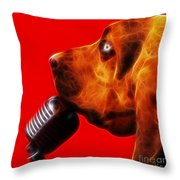 You Ain't Nothing But A Hound Dog - Red - Electric Throw Pillow by Wingsdomain Art and Photography