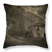 You Are Not Here Throw Pillow by Taylan Apukovska