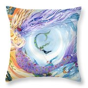 You Are the Sun I Am the Moon Throw Pillow by Sara Burrier