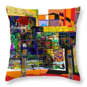 You Saw No Picture 5 Throw Pillow by David Baruch Wolk