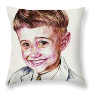 Young Boy Throw Pillow by PainterArtistFINs Husband MAESTRO