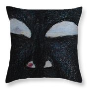 You're Standing In My Eye Throw Pillow by Nancy Mauerman