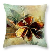 Yucca Pod - Barbara Chichester Throw Pillow by Barbara Chichester