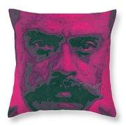Zapata Intenso Throw Pillow by Roberto Valdes Sanchez