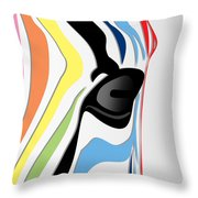 Zebra 1 Throw Pillow by Mark Ashkenazi