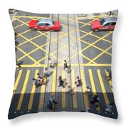 Zebra Crossing - Hong Kong Throw Pillow by Matteo Colombo