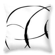Zen Circles 3 Throw Pillow by Hakon Soreide