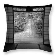 Zen Garden Walkway Throw Pillow by Daniel Hagerman