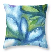 Zen Leaves Throw Pillow by Linda Woods