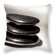Zen Stones Throw Pillow by Olivier Le Queinec