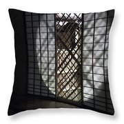 Zen Temple Window - Kyoto Throw Pillow by Daniel Hagerman