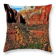 Zion Hairpin Throw Pillow by Benjamin Yeager