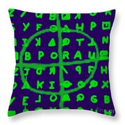 Zodiac Killer Code And Sign 20130213p128 Throw Pillow by Wingsdomain Art and Photography