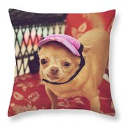 Zoe's Visor Throw Pillow by Laurie Search