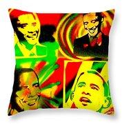 4 Rasta Obama Throw Pillow by Tony B Conscious