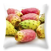 Fruits of Opuntia ficus-indica  Throw Pillow by Fabrizio Troiani
