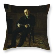Robert M. Lindsay Throw Pillow by Thomas Cowperthwait Eakins