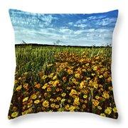 Spring Throw Pillow by Stelios Kleanthous