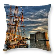 013 Uss Niagara 1813 Series Throw Pillow by Michael Frank Jr