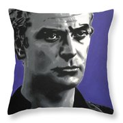 - Michael Caine - Throw Pillow by Luis Ludzska
