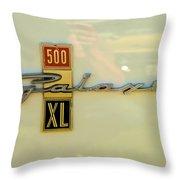 1963 Ford Galaxie Throw Pillow by Mark Dodd